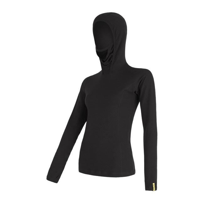 MERINO DF dámské triko dl.rukáv s kapucí