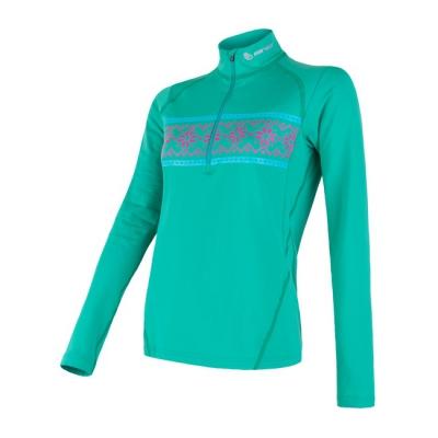 THERMO dámské triko dl.rukáv zip